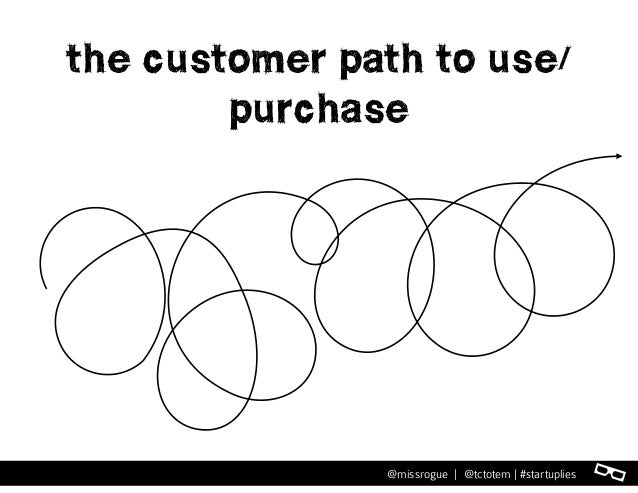 l@missrogue | @tctotem | #startuplies the customer path to use/ purchase