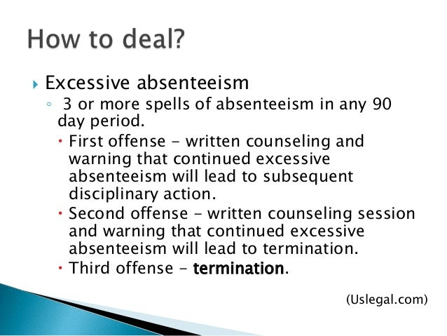 The Effect of Absenteeism and Tardiness on Work