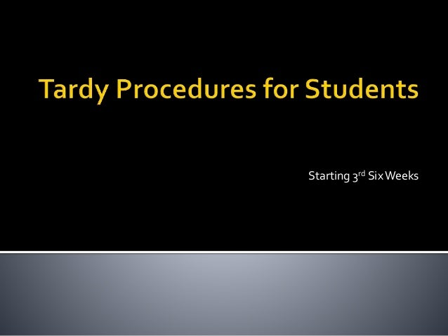 tardiness of students Chronic tardiness (the act of repetitive late arrival) can have a lasting impact on students this lesson reviews some common causes for chronic tardiness based on the age of the student.