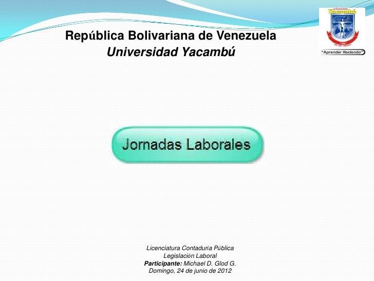 República Bolivariana de Venezuela      Universidad Yacambú             Licenciatura Contaduría Pública                   ...