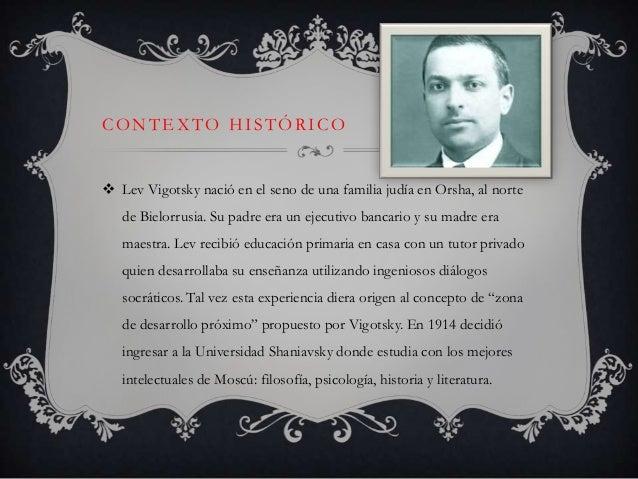 Contexto Historico De Vigotsky