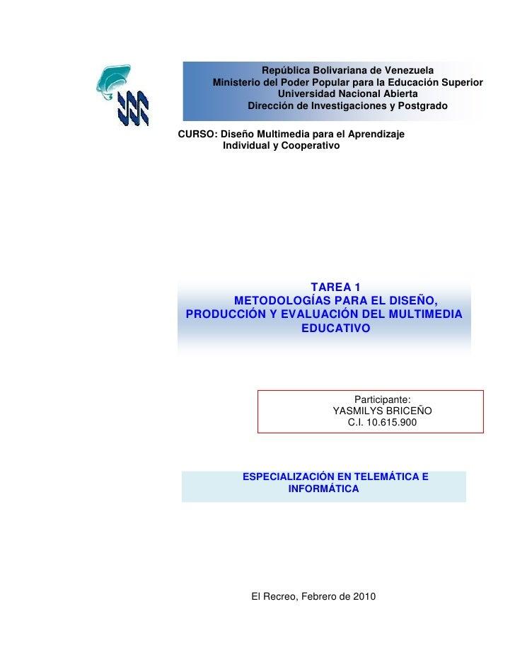 República Bolivariana de Venezuela       Ministerio del Poder Popular para la Educación Superior                     Unive...