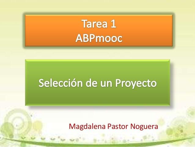 Magdalena Pastor Noguera