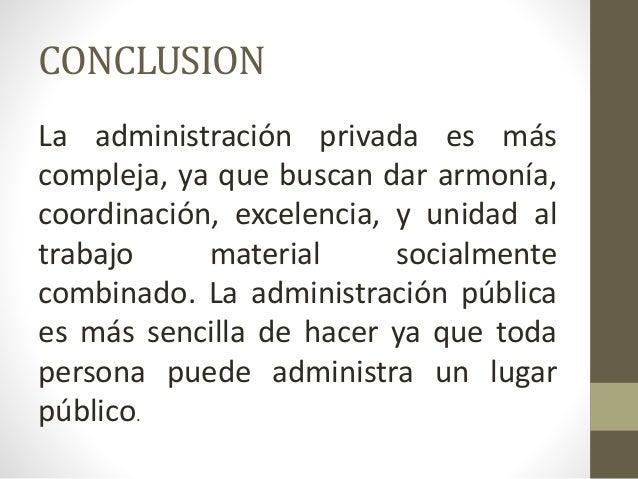 Caracteristicas de la administracion publica y privada for Que es una oficina publica