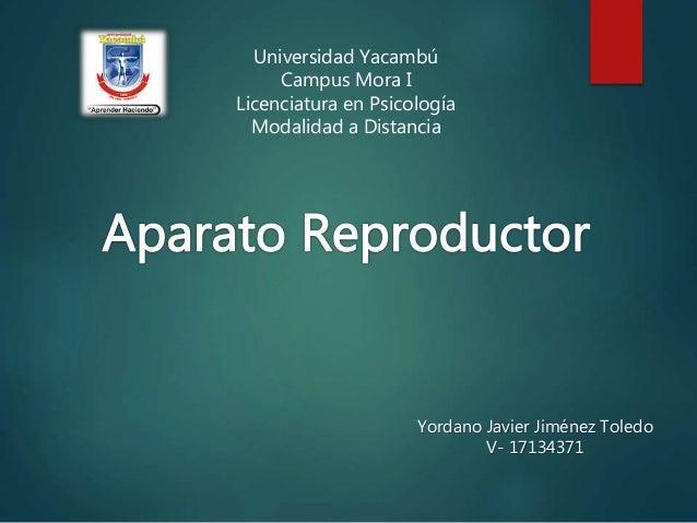 Universidad Yacambú Campus Mora I Licenciatura en Psicología Modalidad a Distancia Yordano Javier Jiménez Toledo V- 171343...