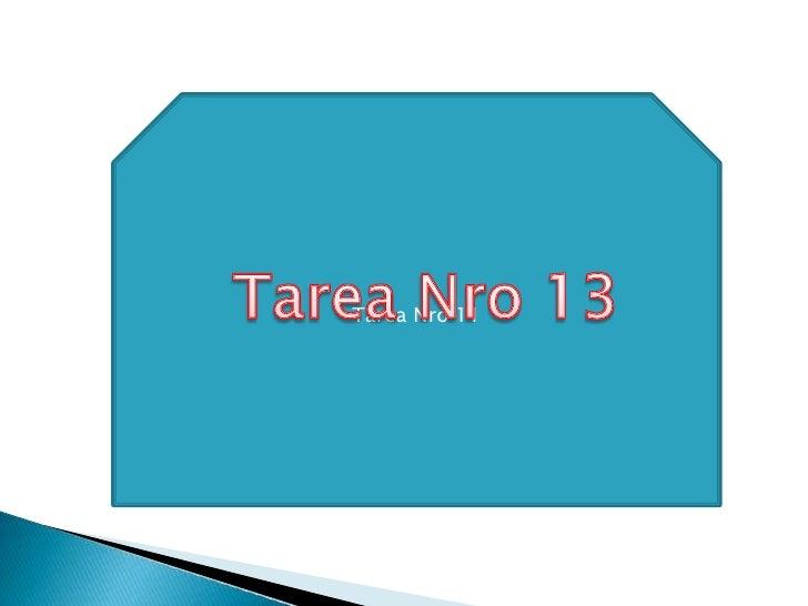 Tarea Nro 11