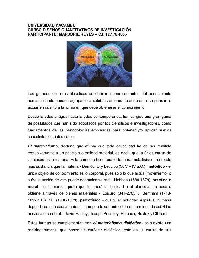 UNIVERSIDAD YACAMBÚ CURSO DISEÑOS CUANTITATIVOS DE INVESTIGACIÓN PARTICIPANTE: MARJORIE REYES – C.I. 12.176.485.- Las gran...