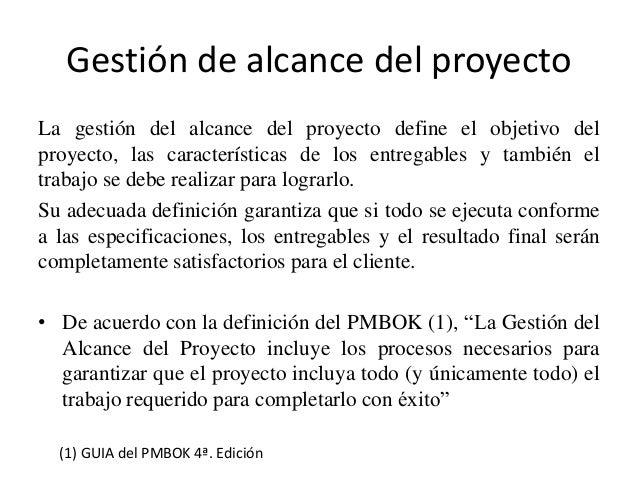 ALCANCES DE UN PROYECTO PDF