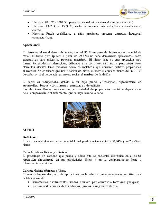 6 - Tabla Periodica Metales No Ferrosos