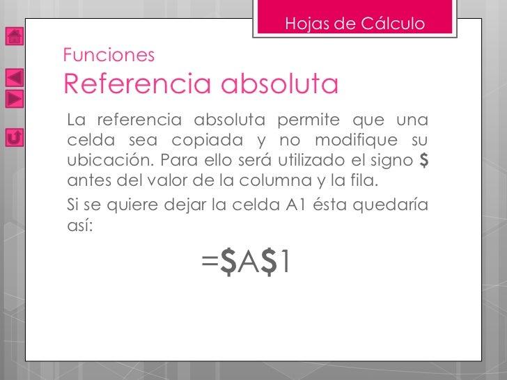 Presentación Hojas de Cálculo