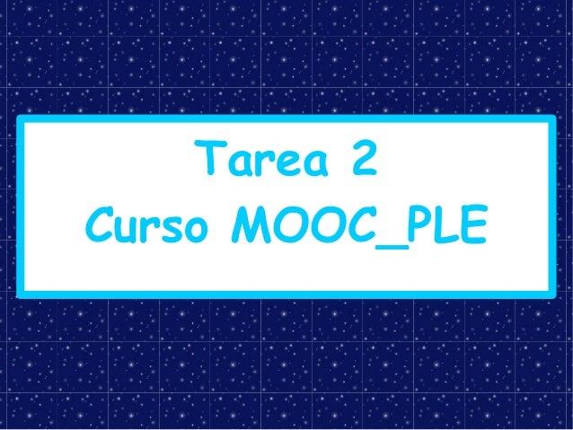 Tarea 2 Curso MOOC_PLE