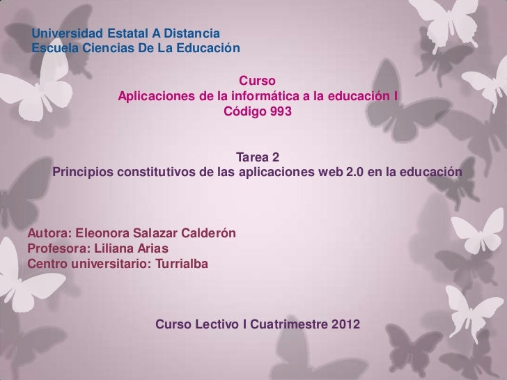 Universidad Estatal A DistanciaEscuela Ciencias De La Educación                                   Curso              Aplic...