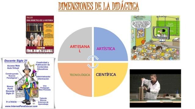 DIMENSIONES DE LA DIDÁCTICA ARTESANA L ARTÍSTICA CIENTÍFICATECNOLÓGICA