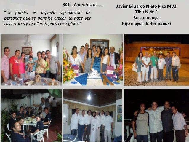"""Javier Eduardo Nieto Pico MVZTibú N de SBucaramangaHijo mayor (6 Hermanos)S01… Parentesco …..""""La familia es aquella agrupa..."""