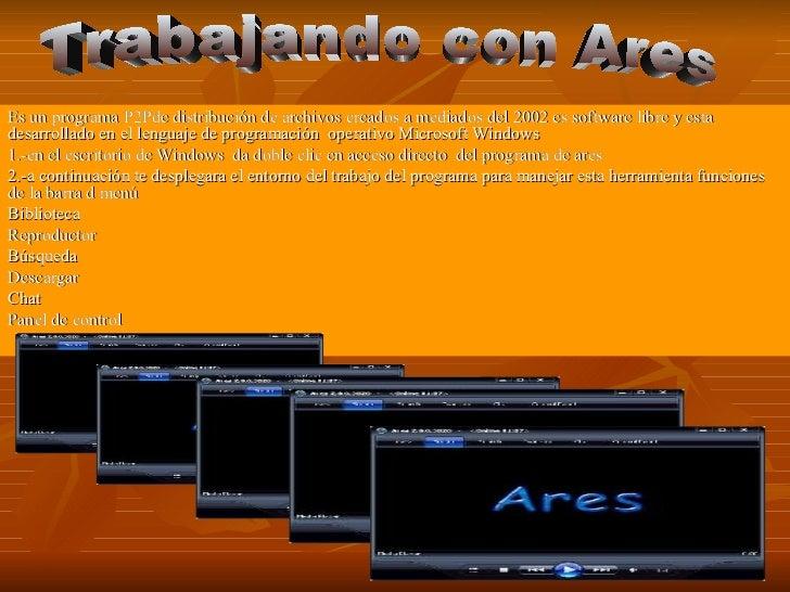 Es un programa P2Pde distribución de archivos creados a mediados del 2002 es software libre y estadesarrollado en el lengu...