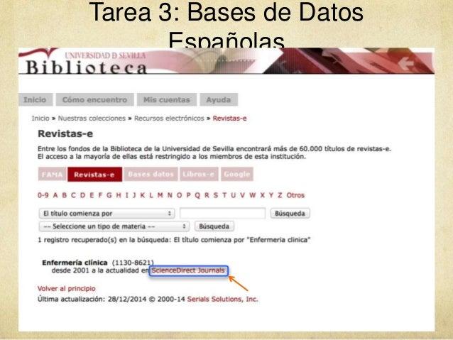Tarea 3: Bases de Datos Españolas