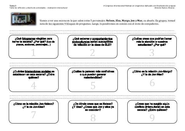 Tarea 3 II Congreso Internacional Nebrija en Lingüística Aplicada a la Enseñanza de Lenguas Taller de reflexión y diseño d...