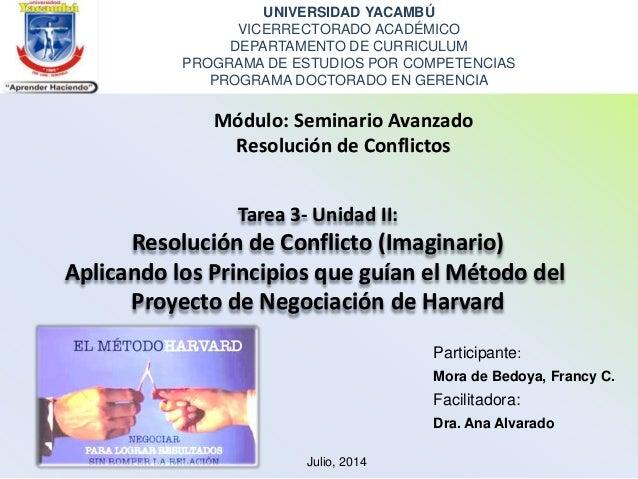 UNIVERSIDAD YACAMBÚ VICERRECTORADO ACADÉMICO DEPARTAMENTO DE CURRICULUM PROGRAMA DE ESTUDIOS POR COMPETENCIAS PROGRAMA DOC...