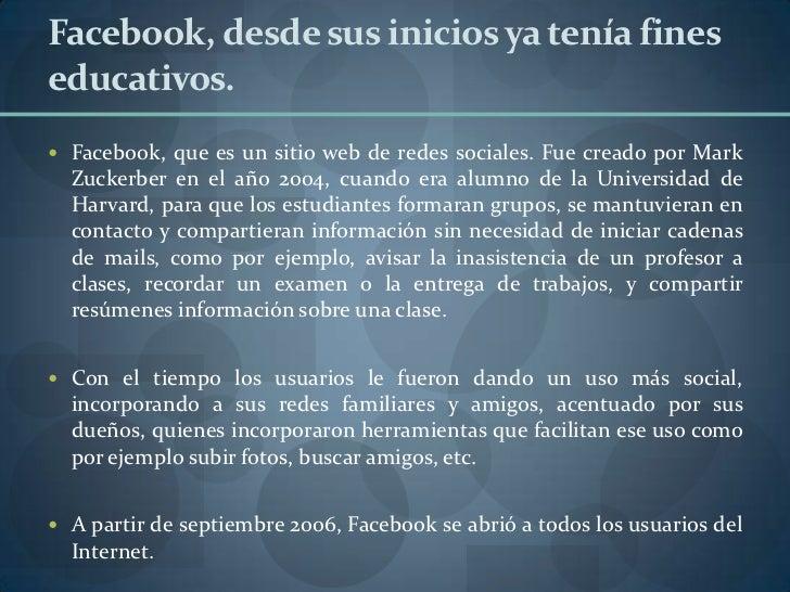 Tarea 3 investigación de facebook Slide 3