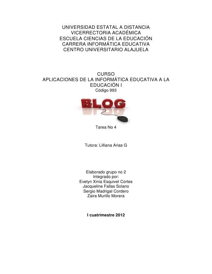 UNIVERSIDAD ESTATAL A DISTANCIA          VICERRECTORIA ACADÉMICA      ESCUELA CIENCIAS DE LA EDUCACIÓN       CARRERA INFOR...