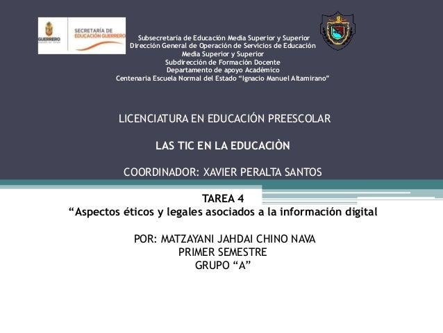 Subsecretaría de Educación Media Superior y Superior  Dirección General de Operación de Servicios de Educación  Media Supe...