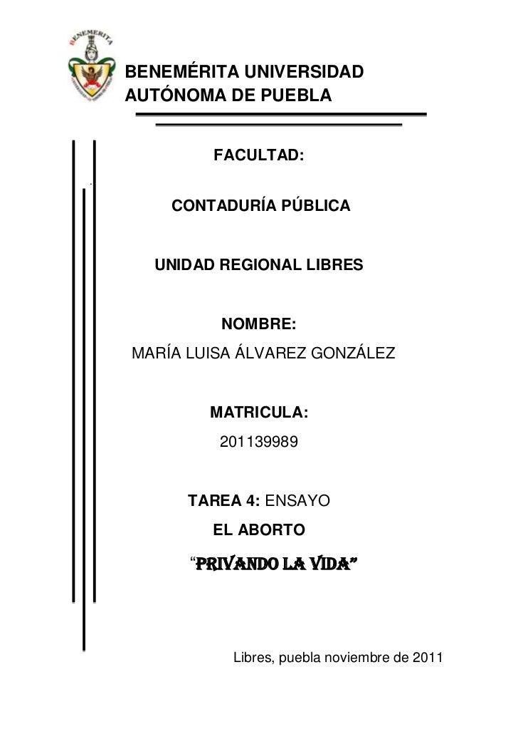 BENEMÉRITA UNIVERSIDAD    AUTÓNOMA DE PUEBLA            FACULTAD:.        CONTADURÍA PÚBLICA      UNIDAD REGIONAL LIBRES  ...