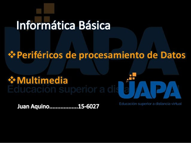 Periféricos de procesamiento de Datos Multimedia