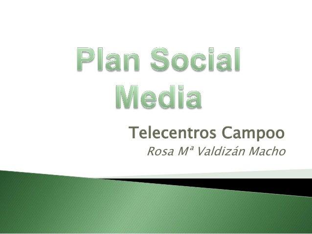 Telecentros Campoo  Rosa Mª Valdizán Macho