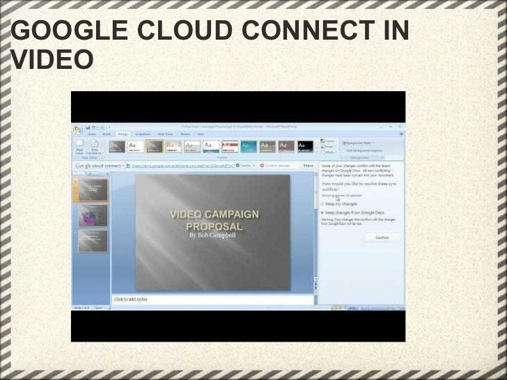 GOOGLE CLOUD CONNECT IN VIDEO
