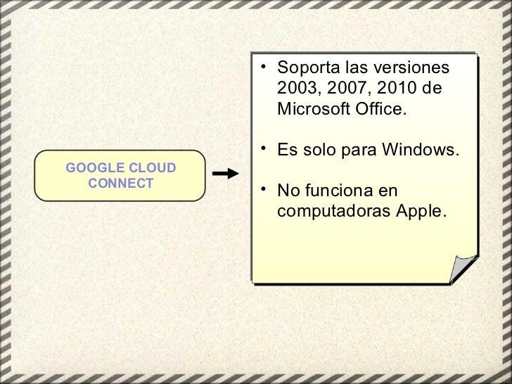 <ul><ul><li>Soporta las versiones 2003, 2007, 2010 de Microsoft Office. </li></ul></ul><ul><ul><li>Es solo para Windows. <...