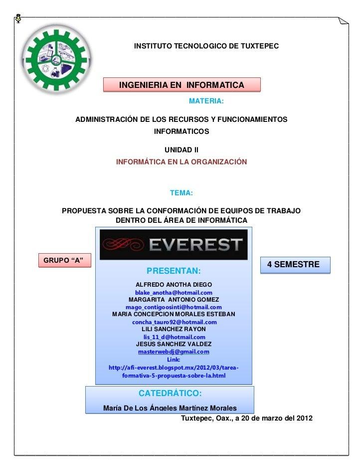 INSTITUTO TECNOLOGICO DE TUXTEPEC                 INGENIERIA EN INFORMATICA                                         MATERI...