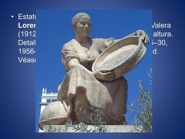 • Estatua en piedra de Aldonza Lorenzo realizada por Federico Coullaut-Valera (1912–1989) en 1956–57. 2,90 metros de altur...