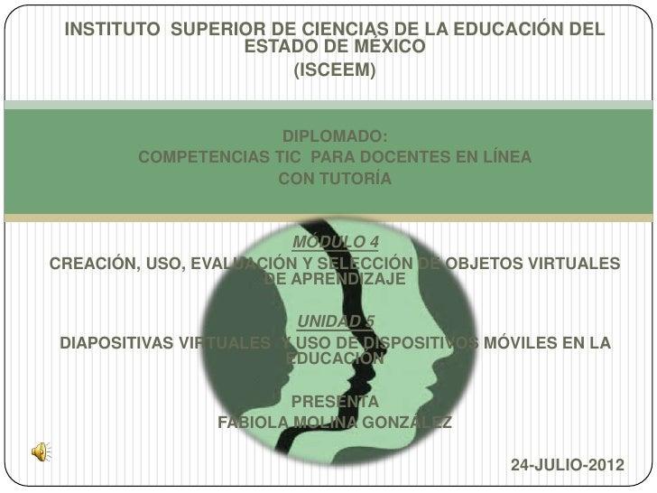 INSTITUTO SUPERIOR DE CIENCIAS DE LA EDUCACIÓN DEL                 ESTADO DE MÉXICO                      (ISCEEM)         ...
