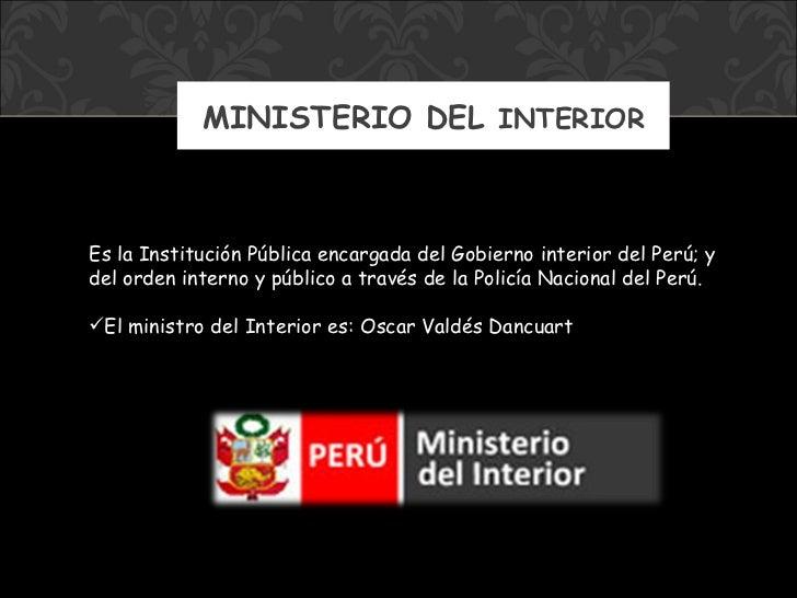 Ministerios del per for Ministerio del interior peru