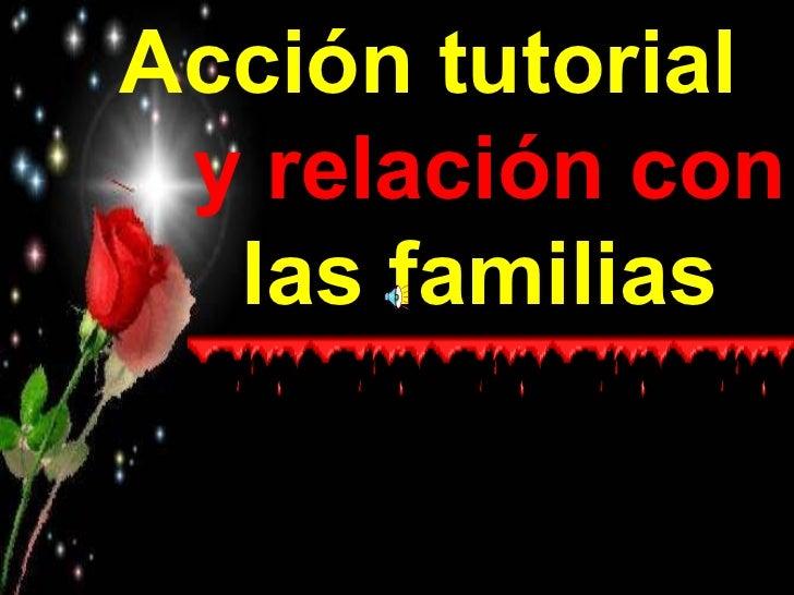 Acción tutorial y relación con las familias