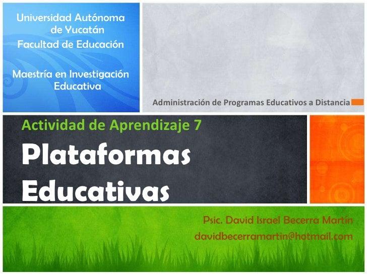 Universidad Autónoma       de YucatánFacultad de EducaciónMaestría en Investigación         Educativa                     ...