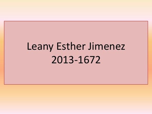 Leany Esther Jimenez 2013-1672
