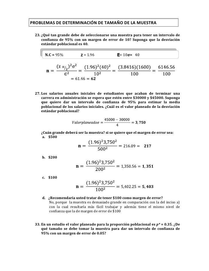PROBLEMAS DE DETERMINACIÓN DE TAMAÑO DE LA MUESTRA<br />¿Qué tan grande debe de seleccionarse una muestra ...