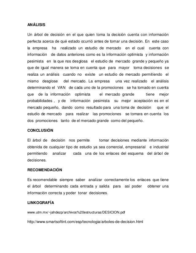 EJERCICIO  DE  ÁRBOL  DE DECISION