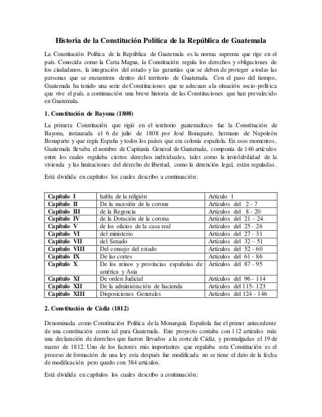 Analisis De Las Constituciones De Guatemala
