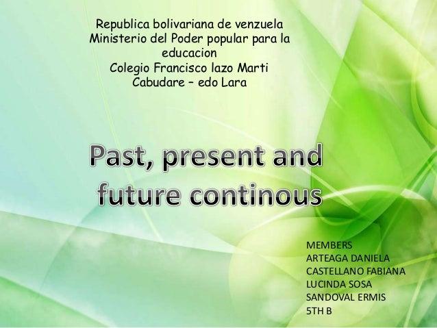 Republica bolivariana de venzuela Ministerio del Poder popular para la educacion Colegio Francisco lazo Marti Cabudare – e...