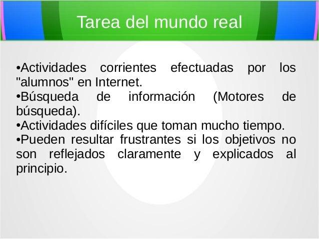 Tareas Del Mundo Real Informatica Aplicada A La Educacion