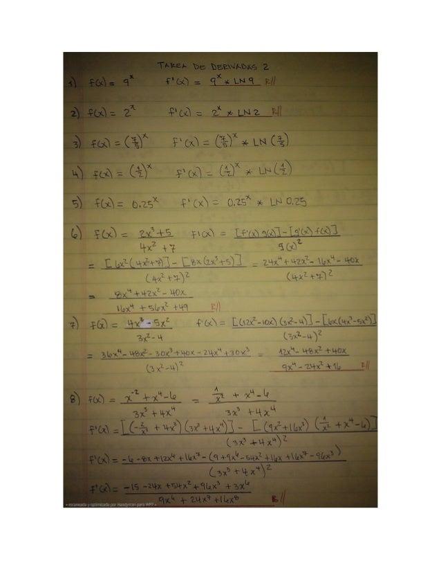 Tarea derivadas 2