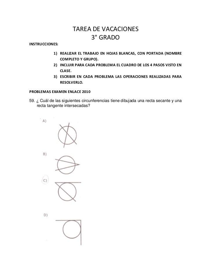 TAREA DE VACACIONES                            3° GRADOINSTRUCCIONES:             1) REALIZAR EL TRABAJO EN HOJAS BLANCAS,...