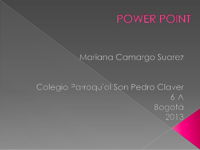 1.   Conceptos de Power Point.2.   Interfaz de Power Point.3.   Características generales de Power Point.4.   Componentes ...