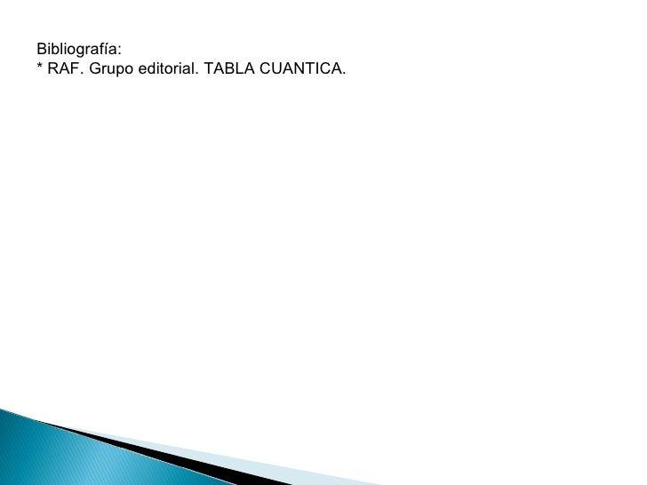 Uso de la tabla cuantica bibliografa raf grupo editorial tabla cuantica urtaz Images