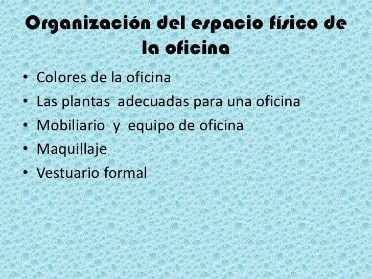 organizaci n del espacio f sico de la oficina inwtd 1 9
