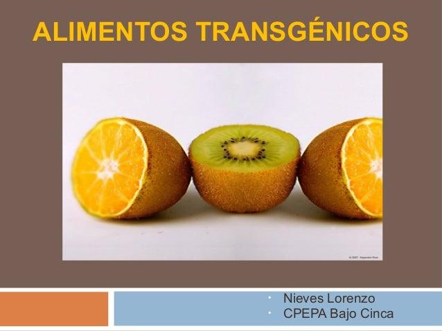 Los alimentos transg nicos - Ventajas alimentos transgenicos ...