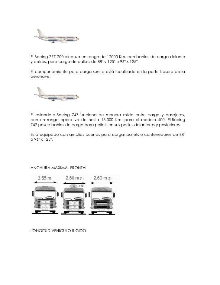 """El Boeing 777-200 alcanza un rango de 12000 Km. con bahías de carga delantey detrás, para carga de pallets de 88"""" y 125"""" o..."""
