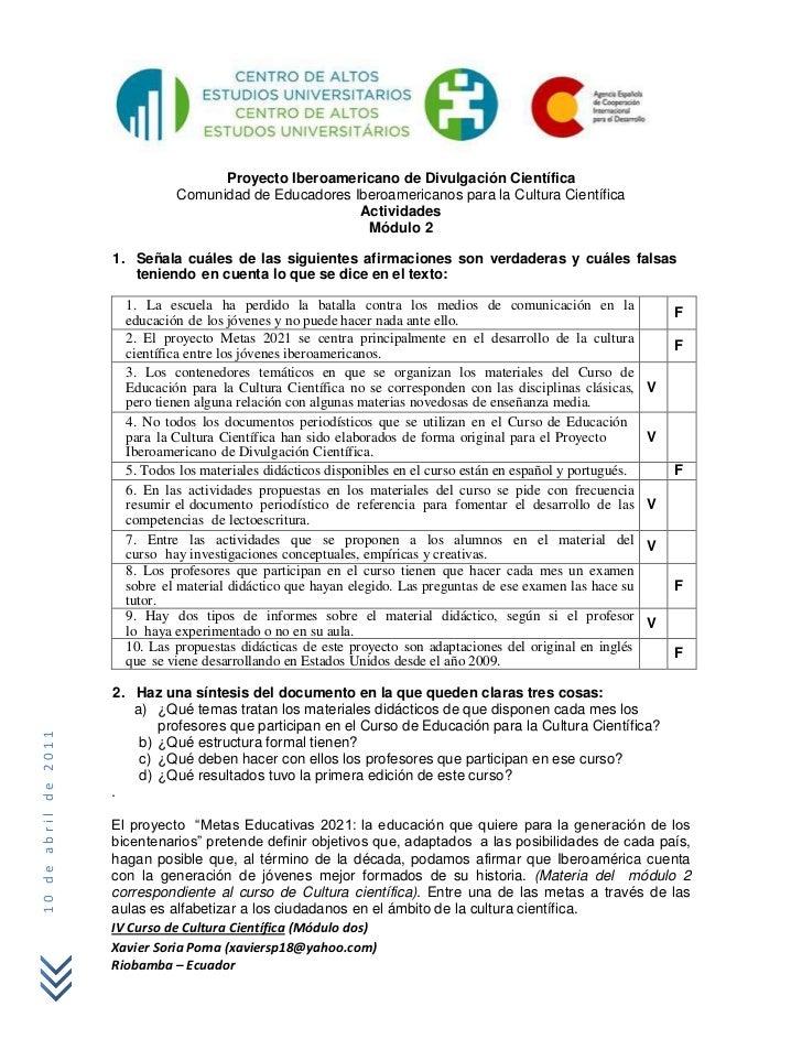 Proyecto Iberoamericano de Divulgación Científica                                Comunidad de Educadores Iberoamericanos p...